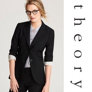 Theory Rory Classic Tailor 2-Button Blazer - 2